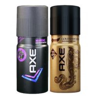 Axe Deodorant MARINE AND GOLD TEMPTATION (Combo Set Of 2 Pcs) -150 Ml Each