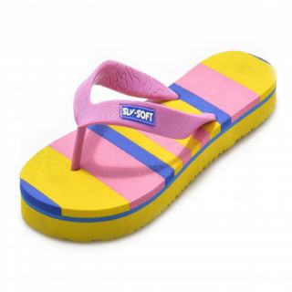 SLV-Soft Womens Pink Flip-Flops And House Slippers