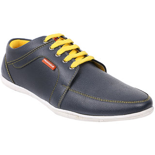 Provogue Mens Blue Casual  Lace-up Shoes (PV1413BLUEYELLOW)