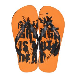 Wega Life GRUNGE Orange/Black Flip-Flops