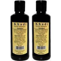 Khadi Natural Herbal Shikakai Shampoo Pack Of 2(420 Ml) Damage Repair