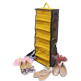 Goyma Yellow Jute,Natural,Eco Friendly Shoe Rack/Six In One Shoe Cover