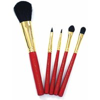 Color Fever Professional Makeup Brush Set - Traditional Red