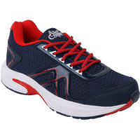 Allen Cooper Men Navy And Red Lace-up Sport Shoes
