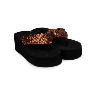 Do Bhai WomenS Copper Heel Sandals (Sippy-Gola-Copper)