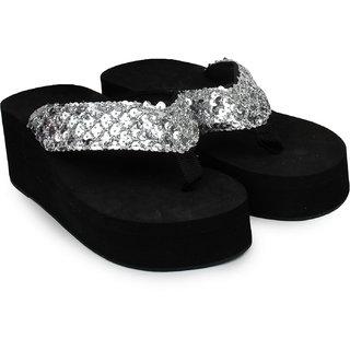 Do Bhai WomenS Silver Heel Sandals (Sippy-Gola-Silver)