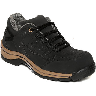 Squarefeet MenS Black Lace-Up Casual Shoes (SqFSB-002Black)