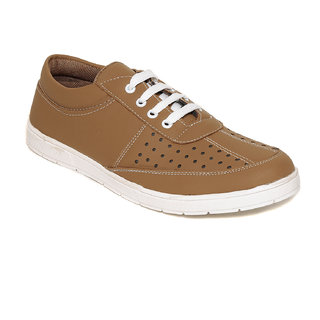 Squarefeet MenS Tan Lace-Up Casual Shoes (SqFSB-011Tan)