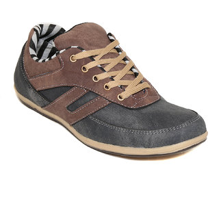 Squarefeet MenS Black Lace-Up Casual Shoes (SqFSB-012Black)