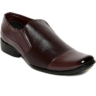 Squarefeet MenS Brown Slip On Formal Shoes (SqFSB-027Brown)