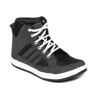 Squarefeet MenS Black Lace-Up Casual Shoes (SqFSB-031Black)