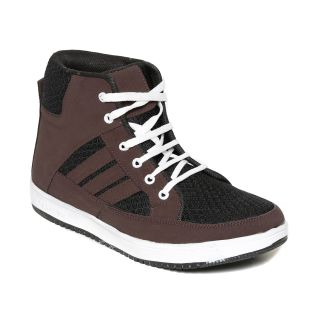 Squarefeet MenS Brown Lace-Up Casual Shoes (SqFSB-031Brown)