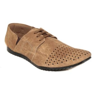 Squarefeet MenS Brown Lace-Up Casual Shoes (SqFSB-010Cheeku)
