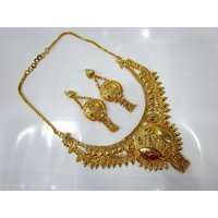 Awesome Gold Plated One Gram Gold Jewellery Set