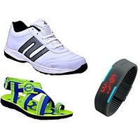 ABZ Men's Sport Shoe With Floater And Digital Watch