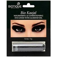 Biotique Bio Kaajal Nourishing And Conditioning Eye Liner With Almond Oil (pack Of2)