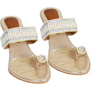Rialto WomenS White Wedge Heel Sandals (RL-MP11-Whi)