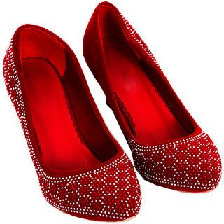 Rialto WomenS Red Peep Toe Heel Sandals (RL-MP23-Rd)