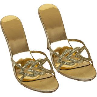 Rialto WomenS Gold Peep Toe Heel Sandals (RL-MP29-Gd)
