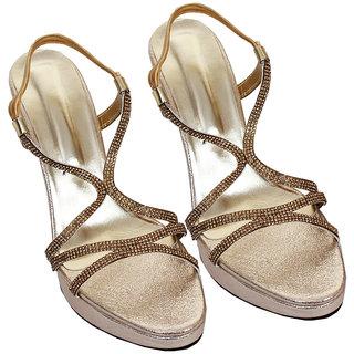 Rialto WomenS Brown Peep Toe Heel Sandals (RL-MP37-Br)