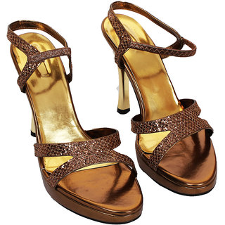 Rialto WomenS Brown Peep Toe Heel Sandals (RL-MP38-Br)