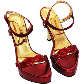 Rialto WomenS Brown Peep Toe Heel Sandals (RL-MP39-Br)