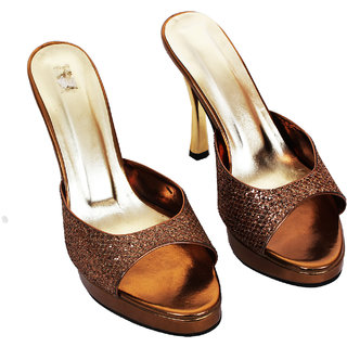Rialto WomenS Brown Peep Toe Heel Sandals (RL-MP40-Br)
