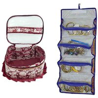 Fril Makeup Kit And 4 In 1 Travel Bag Cum Cosmetic Organizer Bag