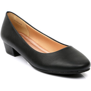 Tresmode Cegamo Women Black Pumps  Peep Toe