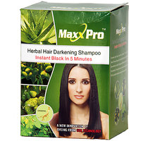 MAXXPRO Herbal Hair Dye Shampoo Instant Black In 5 Minutes,,,,,, - 90847602