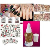 Latest Combo Nail Art ( Nail Studs+ Nail Stickers+Nail Pen )