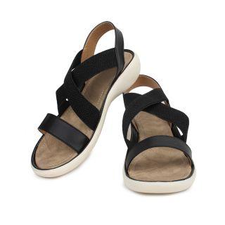 Do Bhai WomenS Black Velcro Flats (KM-1900-Black)