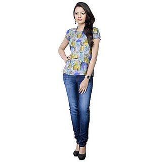 Kanva Mutlicoloured Floral Printed Ladies Top