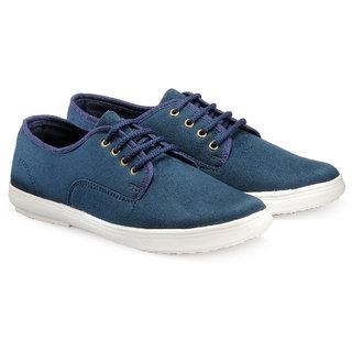 Juandavid MenS Blue Slip On Sneakers Shoes (913 Blue)
