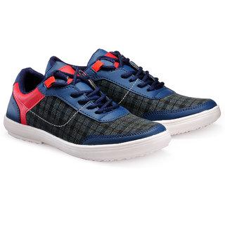 Juandavid MenS Blue Slip On Sneakers Shoes (932 Blue)