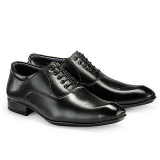 Juandavid MenS Black Formal Lace-Up Shoes (F-142 Black)