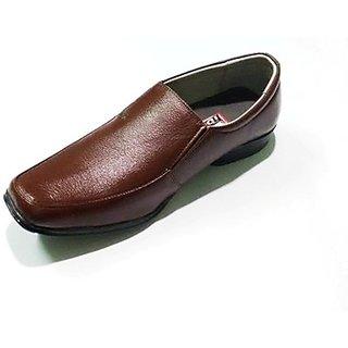 Brown Mens Formal Slip On