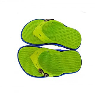 Super Divine Collections - Soft  Comfortable Acupressure Butterfly Ladies Flip Flop - Green Blue