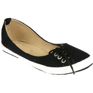 Zachho Women Black Slip On Casual Shoes (HC68-BLACK)