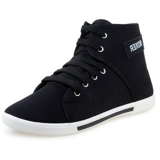 OM SHOES DEPOT Boxer Mens Black Casual Shoes
