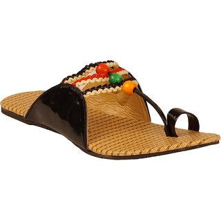 Zachho Women Black Casual Slip On Flats (HC02-Black)