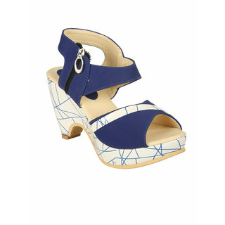 Zachho Women Blue Plain Toe Casual Sandals (HC130-Blue)