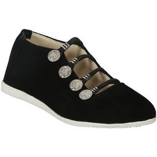 Zachho Women Black Slip On Casual Shoes (HC213-Black)