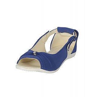 Zachho Women Blue Plain Toe Casual Sandals (HC212-Blue)