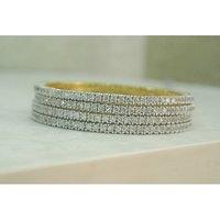 Beautiful American Diamond Set Of 4 Bangles
