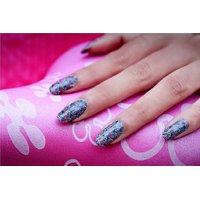 Nail Art Sticker Purple Feature