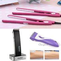 Mini Hair Straightner For Mens+Kemei Km-619 Trimmer For Men+Lady Shaver,Hurry !!