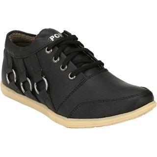 Hnt Men Black Casual Shoes (JD666-BLK)