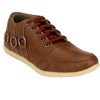Hnt Men Brown Casual Shoes (JD666-BRN)