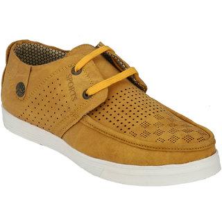 Hnt Men Yellow Casual Shoes (JDV7-YEL)